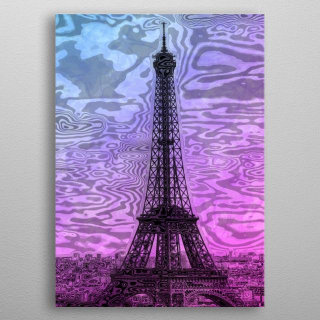 Modern-Art PARIS Eiffel Tower metal poster
