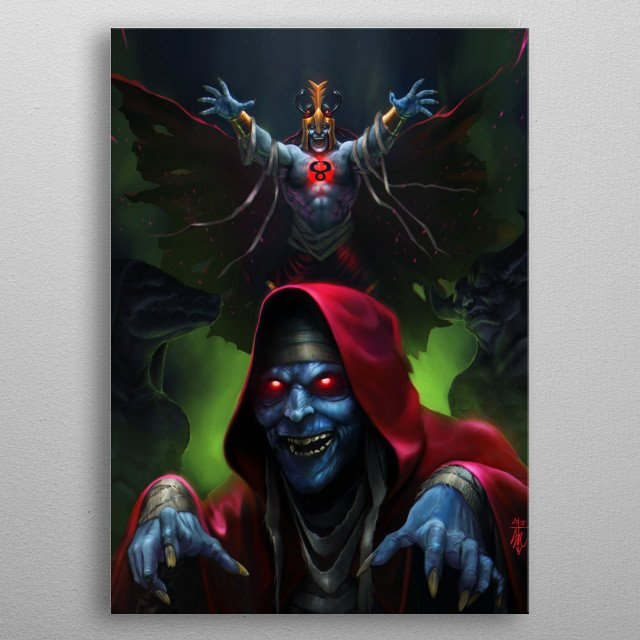 Fascinating metal poster designed by Sal V Cloak. Displate has a unique signature and hologram on the back to add authenticity to each design. metal poster