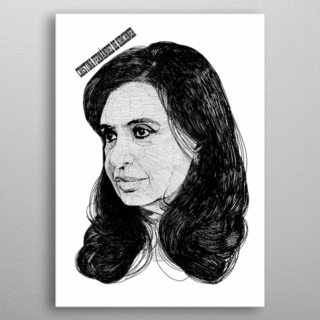Cristina Elisabet Fernández de Kirchner metal poster