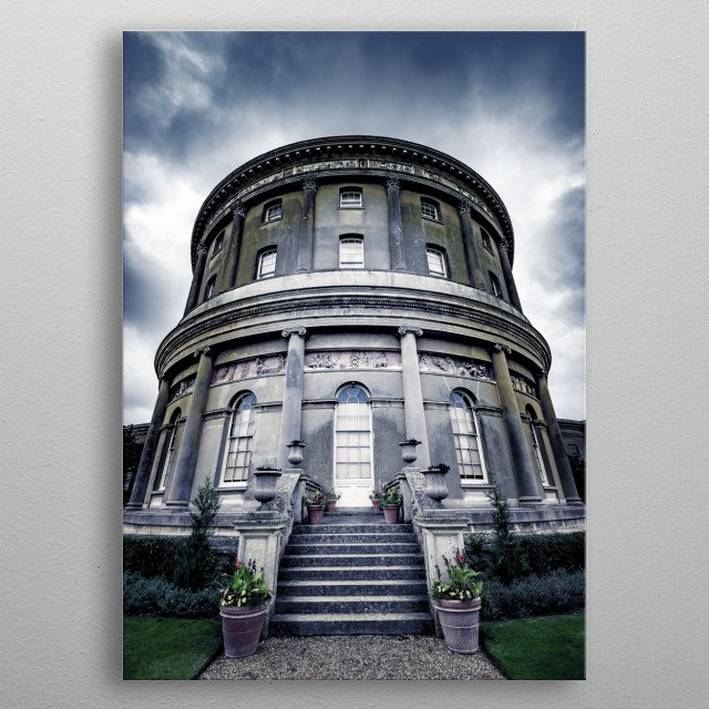 Ickworth House is a country house near Bury St. Edmunds, Suffolk, England. It is a neoclassical building set in parkland. The house is in the care of the National Trust metal poster