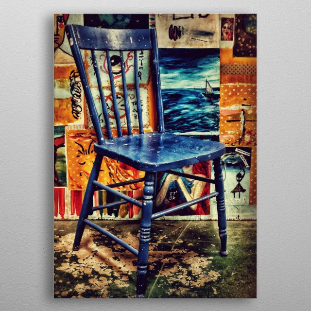 Chair metal poster