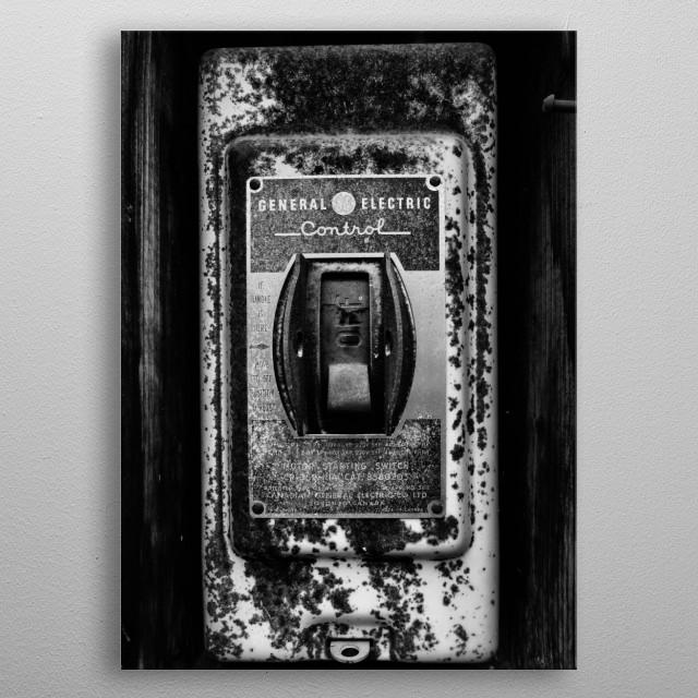 Plug metal poster