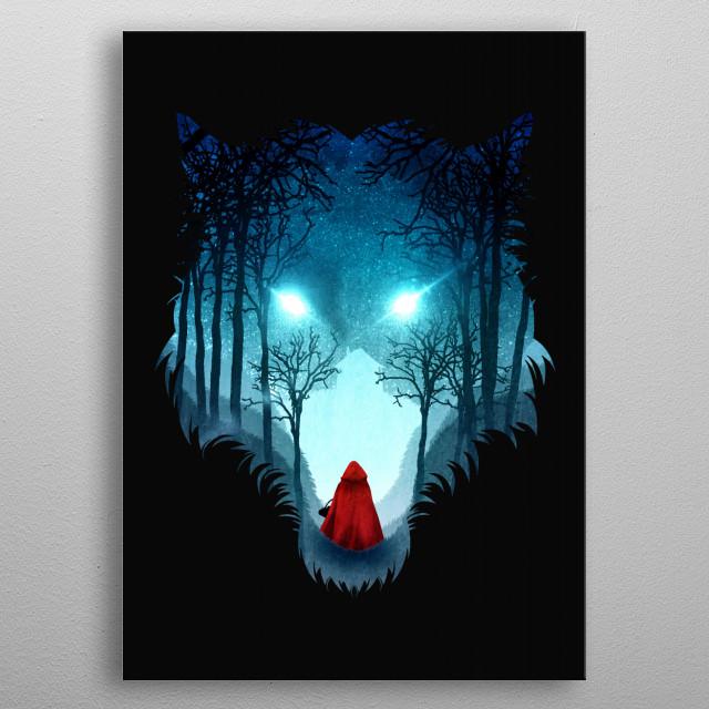 Big Bad Wolf (dark version) metal poster