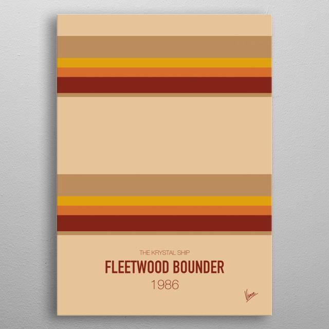No005 My BREAKING BAD minimal movie car poster — Fleetwood Bounder 1986 The Krystal Ship metal poster