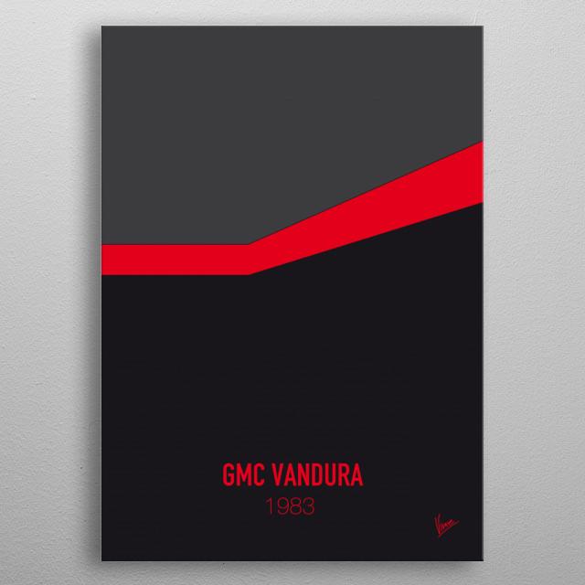 No023 My ATEAM minimal movie car poster — GMC Vandura 1983 metal poster