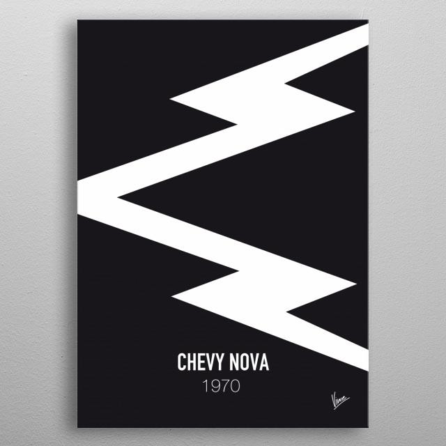 No012 My DEATH PROOF minimal movie car poster — Chevy Nova 1970 metal poster