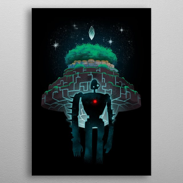 Night Castle in the Sky metal poster