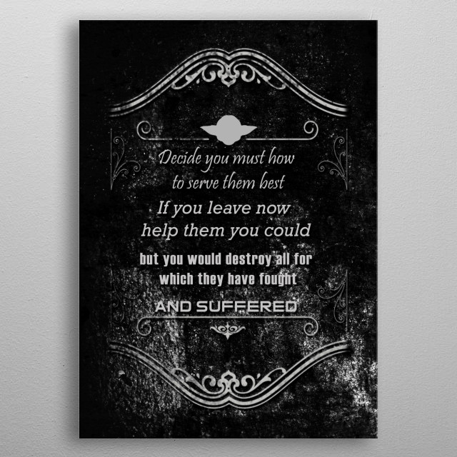Decide - Yoda metal poster