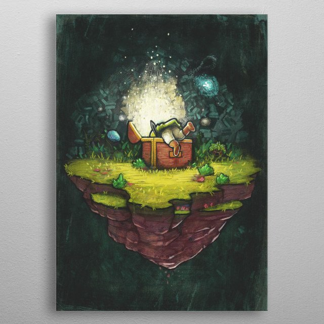 Discover. metal poster