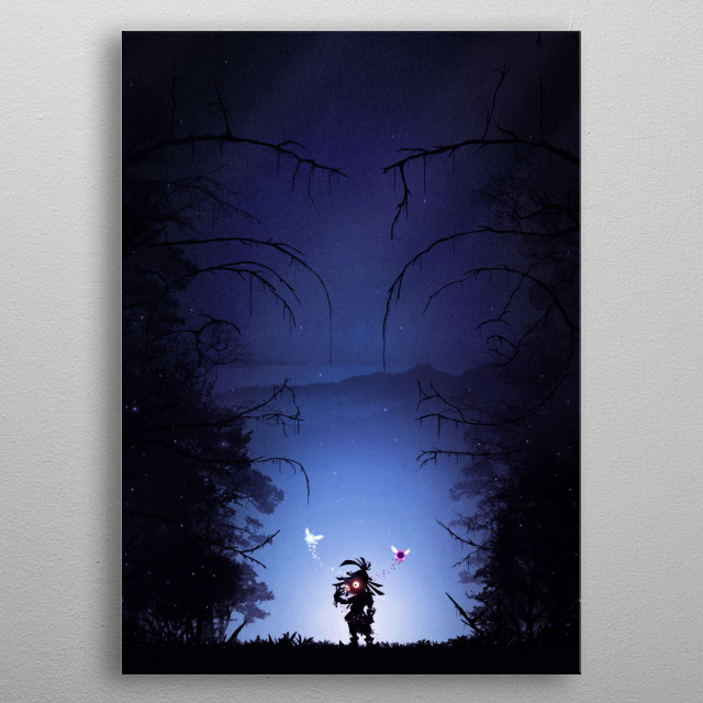 The Skull Kid metal poster