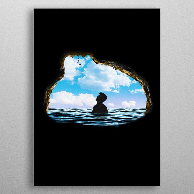 A Dream within a Dream metal poster