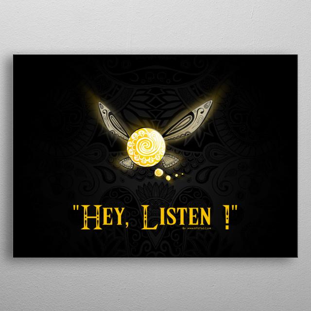 """""""Hey, Listen"""" by Art et Be - 2015 www.artetbe.com metal poster"""