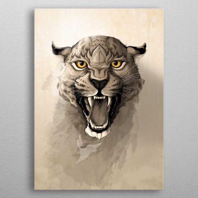 Leopard. metal poster