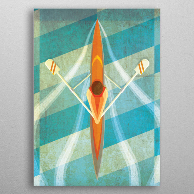 The Serenity of Sculling  metal poster