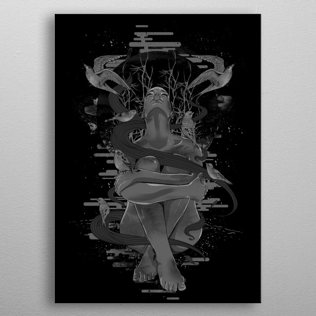High-quality metal print from amazing Artsy Illustrations collection will bring unique style to your space and will show off your personality. metal poster