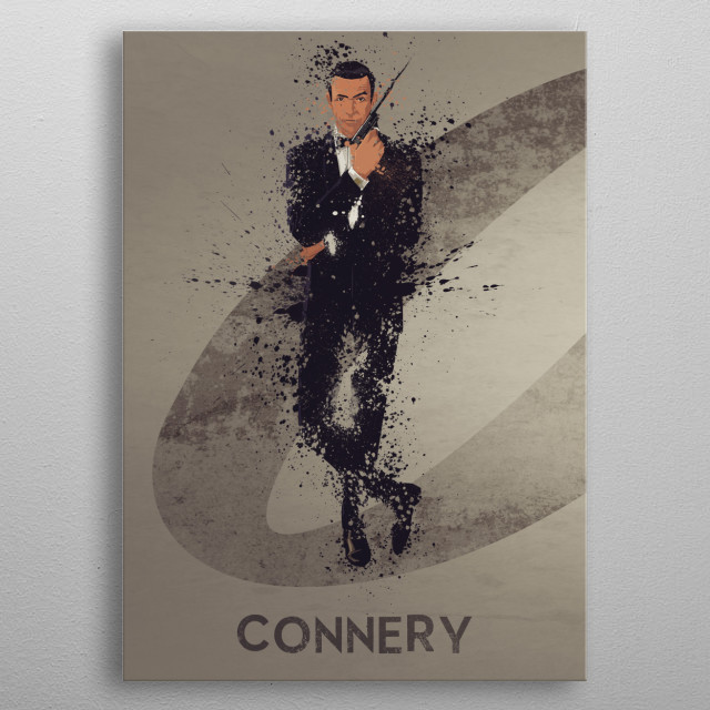 Connery – Bond actor's series 1/6. A combination of 6 prints to make one larger bond theme artwork, or leave as a separate piece. metal poster