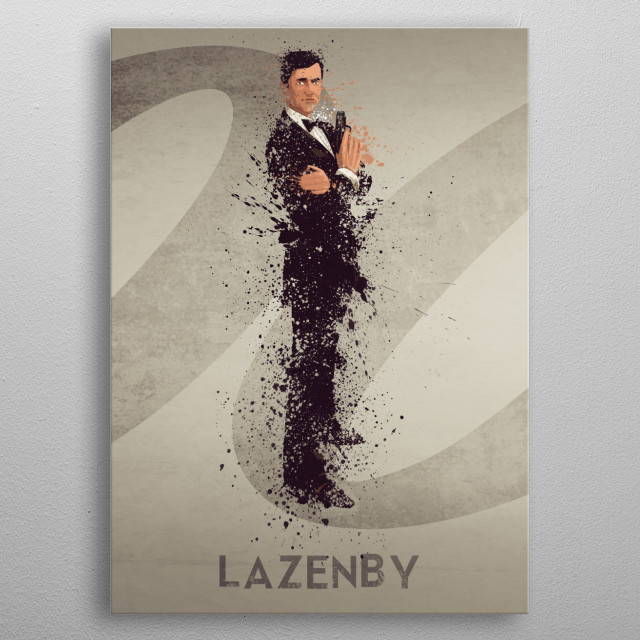 Lazenby – Bond actor's series 2/6. A combination of 6 prints to make one larger bond theme artwork, or leave as a separate piece. metal poster
