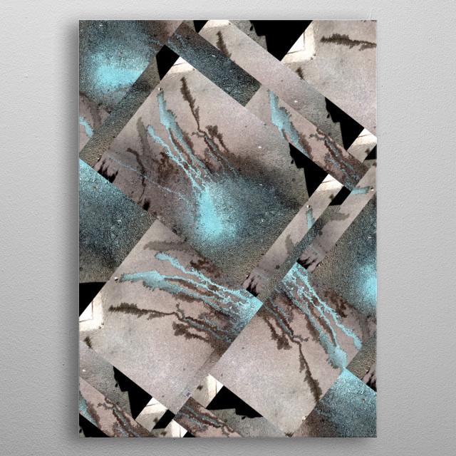 Medusa Blue  BY GASPONCEPaint on asphalt/ photography/filters metal poster