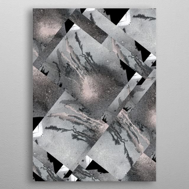 Medusa Grey BY GASPONCEPaint on asphalt/ photography/filters metal poster