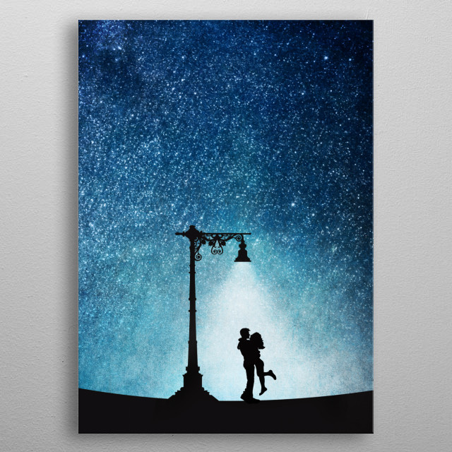 Just you, me and the stars metal poster
