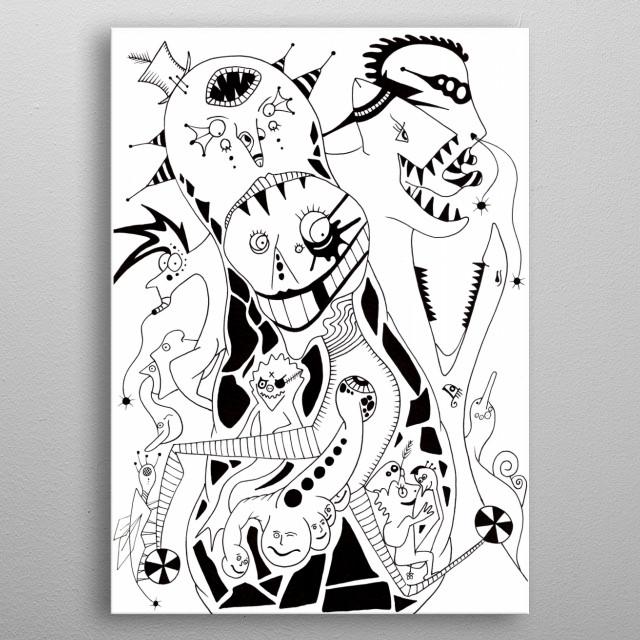 THE GANG metal poster