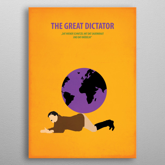 The Great Dictator metal poster