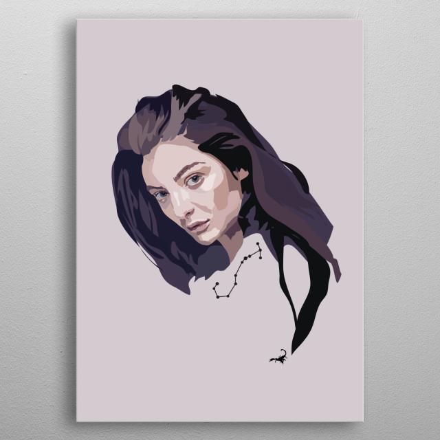 'Lorde' metal poster