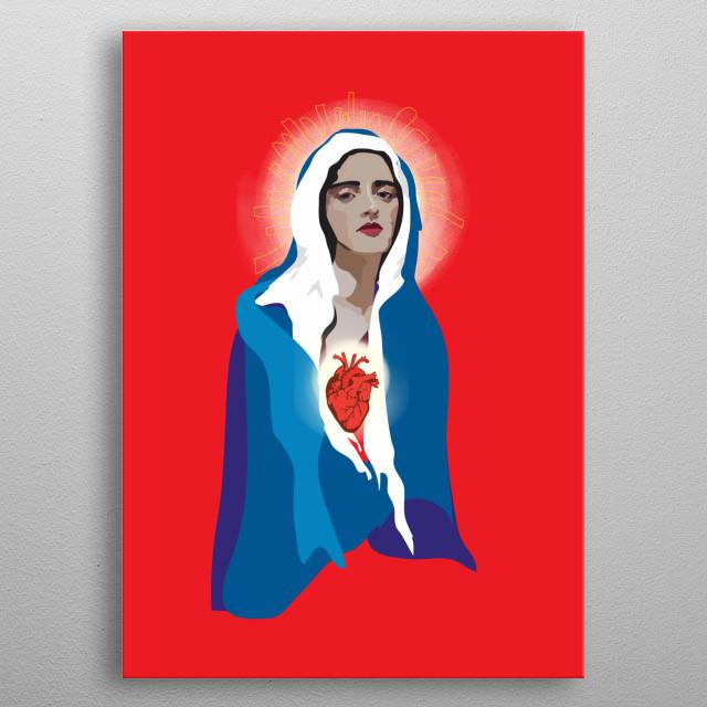 'Virgin of Guadalupe' metal poster