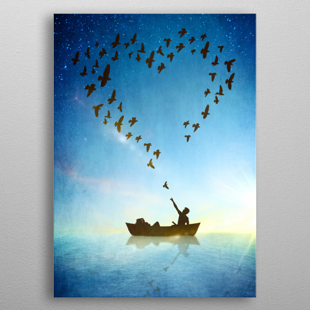 Love is in the Air metal poster