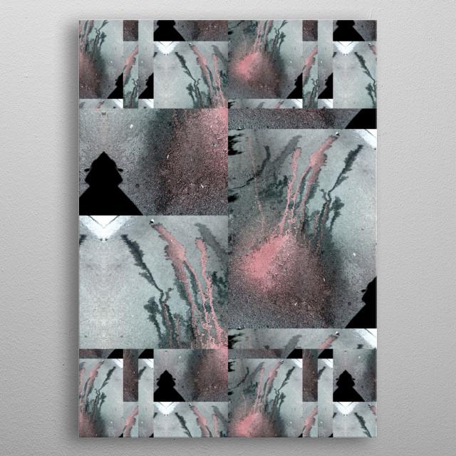 Half pink BY GASPONCEPaint on asphalt/ photography/filters metal poster