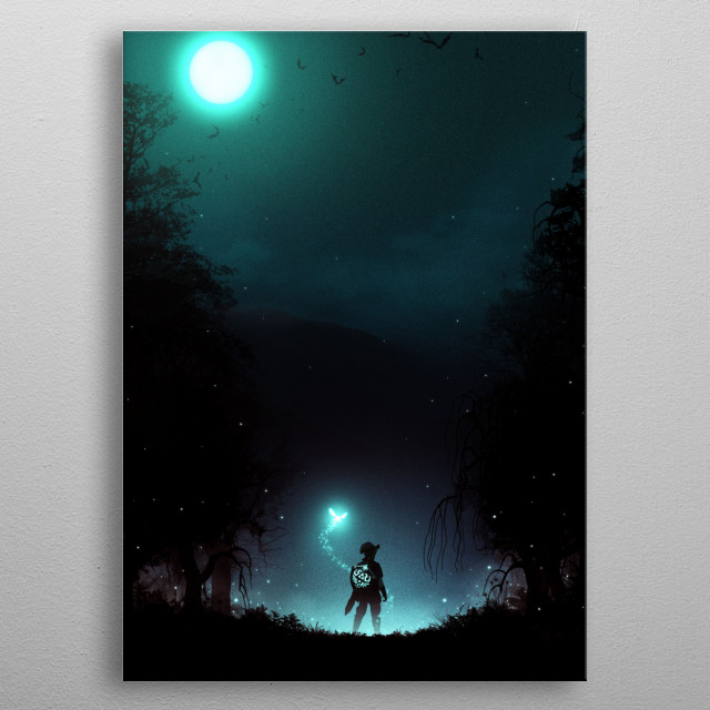 It's Dangerous to Go Alone metal poster