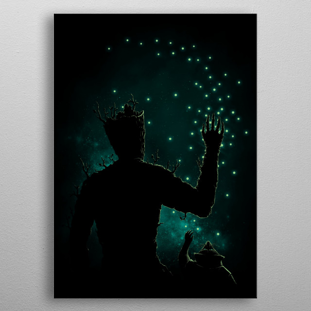 High-quality metal print from amazing Silhouette Art collection will bring unique style to your space and will show off your personality. metal poster