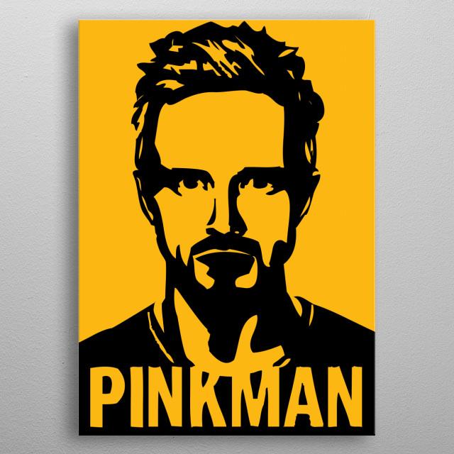 Pinkman metal poster