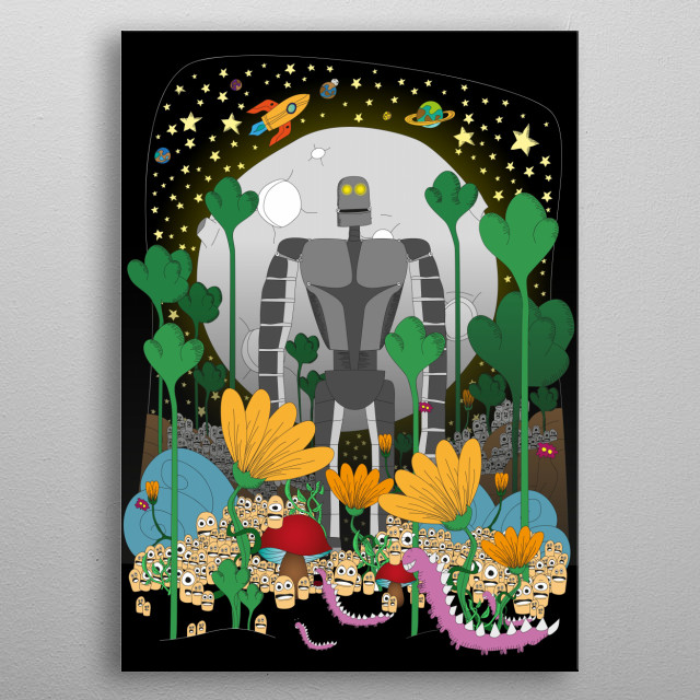 Guardian of the forest metal poster