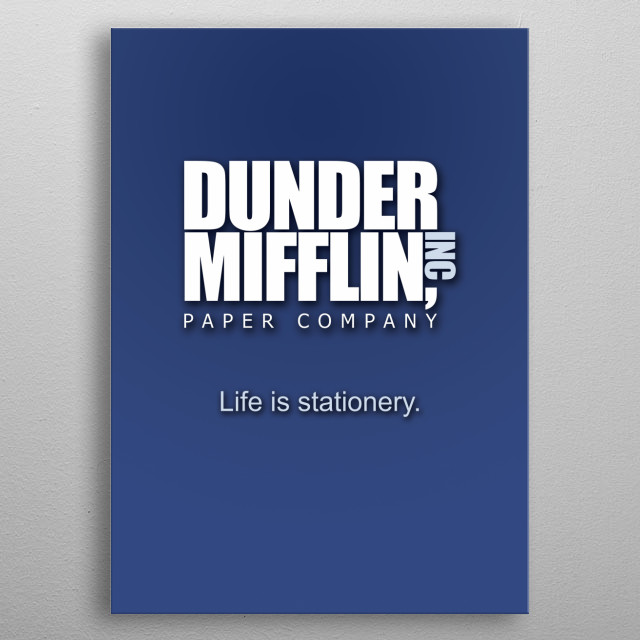The fictional company from The Office metal poster