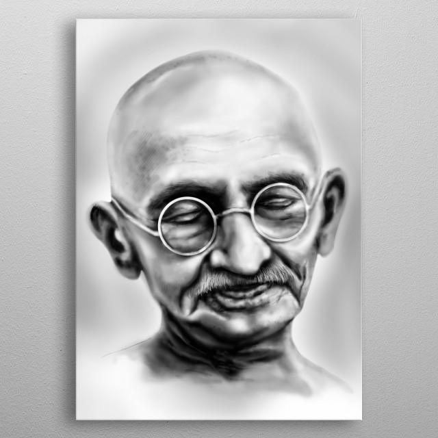 Gandhi metal poster