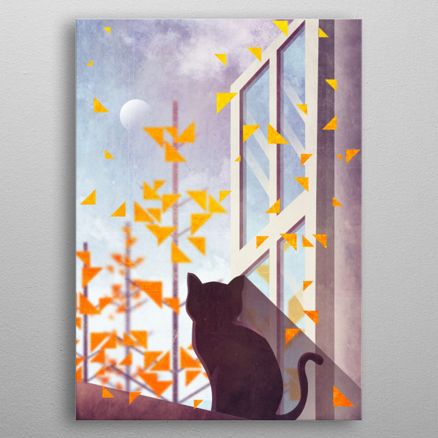 The Last Autumn Leaves metal poster