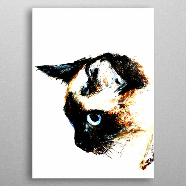 High-quality metal print from amazing Cats And Dogs collection will bring unique style to your space and will show off your personality. metal poster