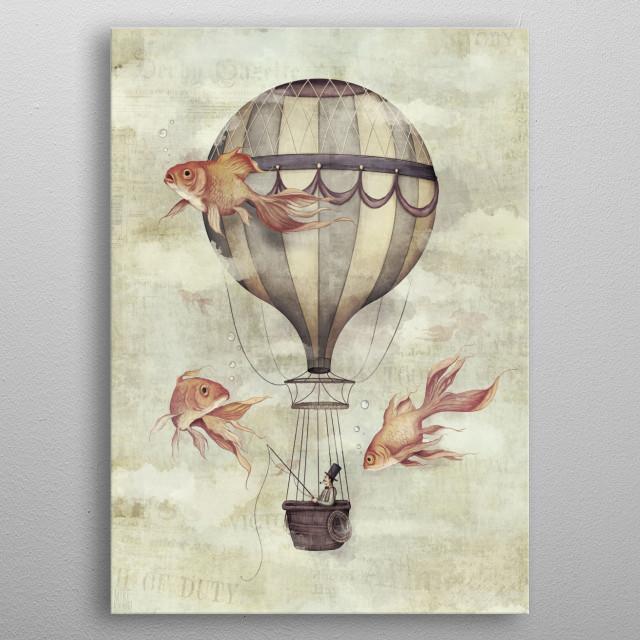 Skyfisher metal poster