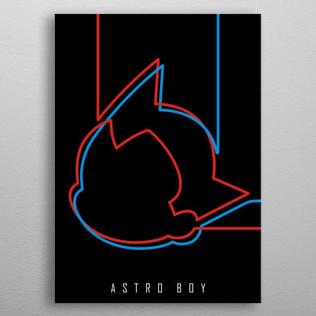 "Minimal ""Astro Boy"" Poster metal poster"