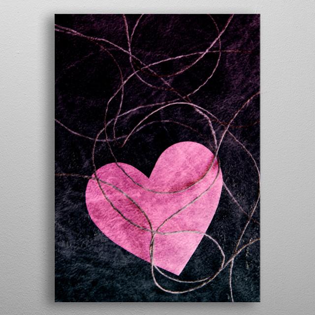 Heart grunge metal poster