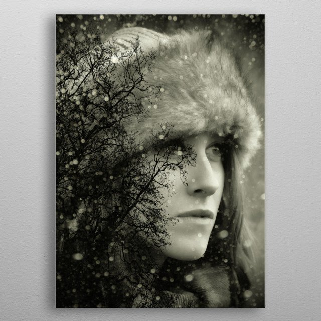 Wintertime The first snow has fallen and we take time to think of whats to come. By Clare Bevan Photography metal poster