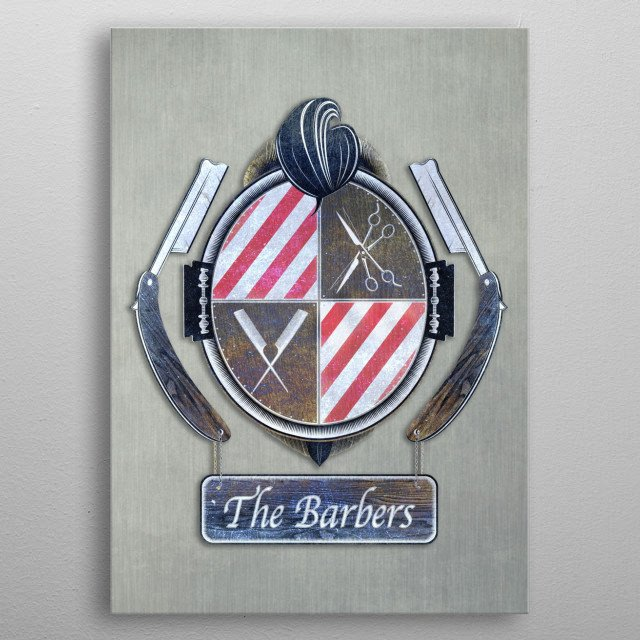 the barbers metal poster