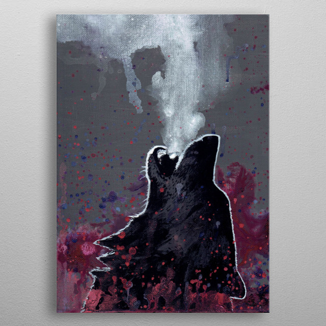 """""""Calling to the Soul"""" Acrylic paint metal poster"""