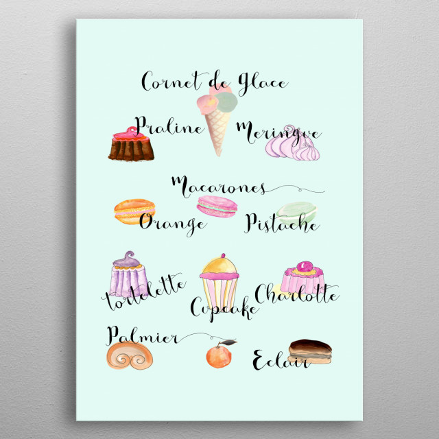 FRENCH PASTRIES metal poster