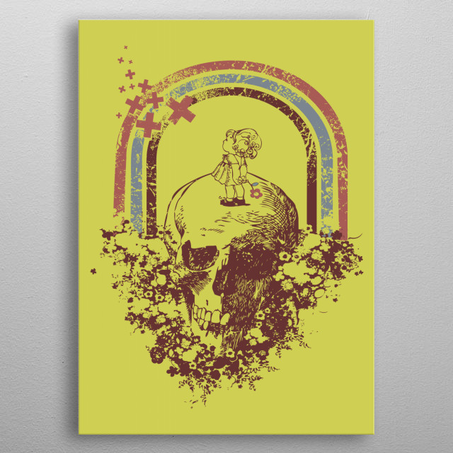 Over The Rainbow metal poster