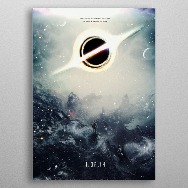 My design/painting/composition of a fictional coming so... metal poster
