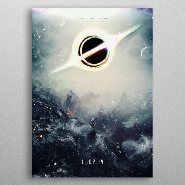 My design/painting/composition of a fictional coming soon or teaser movie poster metal poster