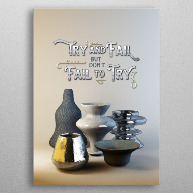 High-quality metal print from amazing 3d Visualization collection will bring unique style to your space and will show off your personality. metal poster