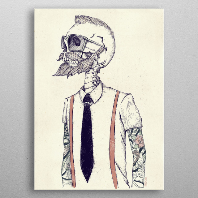 High-quality metal print from amazing Skull Collection collection will bring unique style to your space and will show off your personality. metal poster